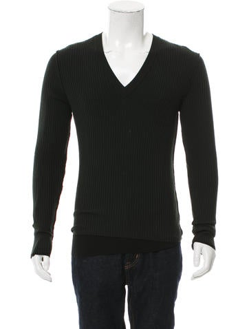 Dolce & Gabbana Wool Rib Knit Sweater w/ Tags None