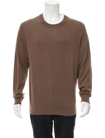 Dolce & Gabbana Rib Knit-Trimmed Crew Neck Sweater w/ Tags None