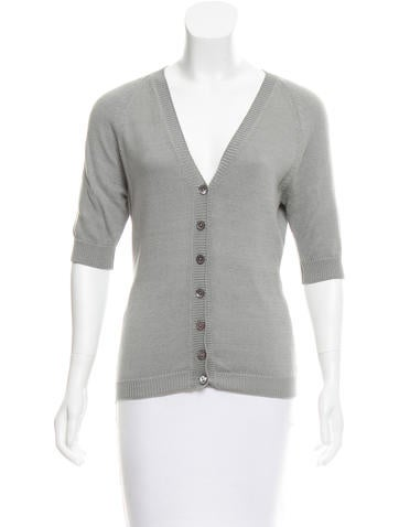 Dolce & Gabbana V-Neck Button-Up Cardigan None