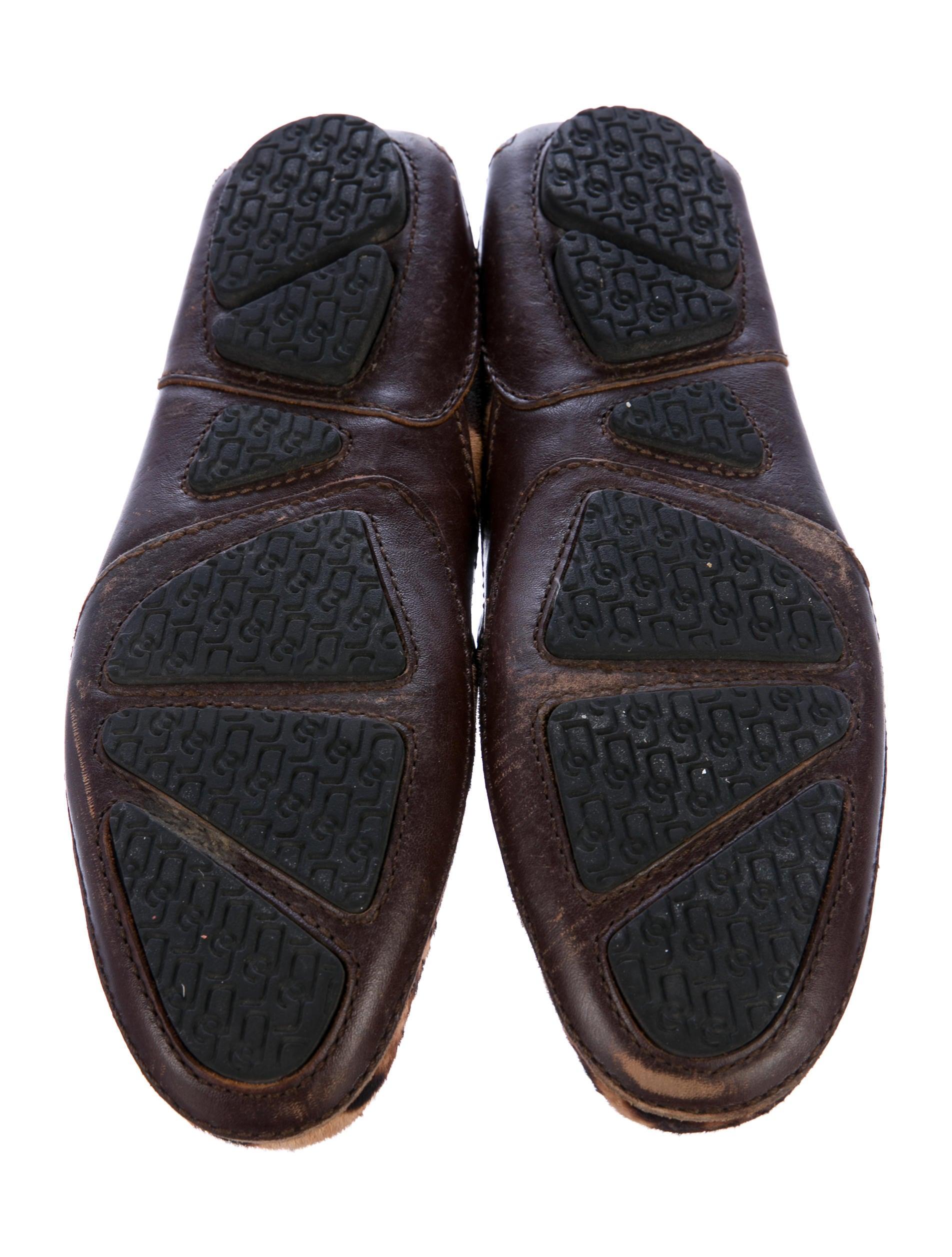 Dolce Amp Gabbana Leopard Print Ponyhair Penny Loafers