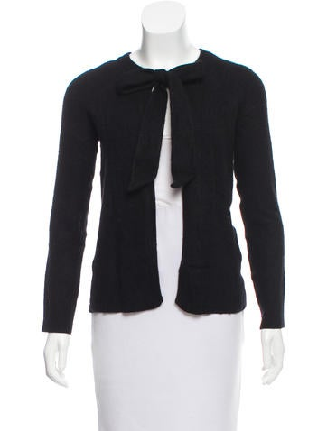 Dolce & Gabbana Bow-Accented Knit Cardigan None