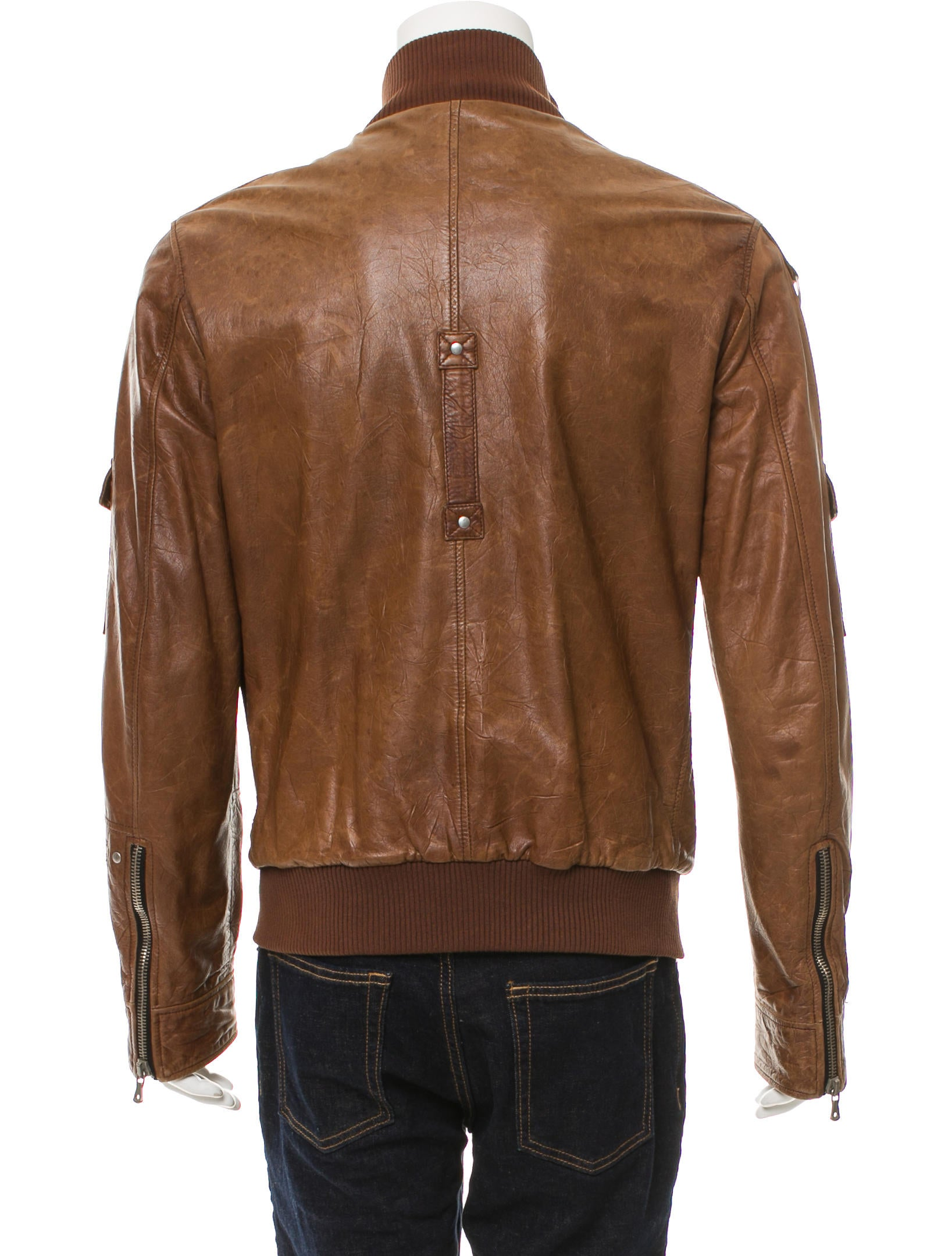 dolce gabbana leather bomber jacket clothing dag94938 the realreal. Black Bedroom Furniture Sets. Home Design Ideas