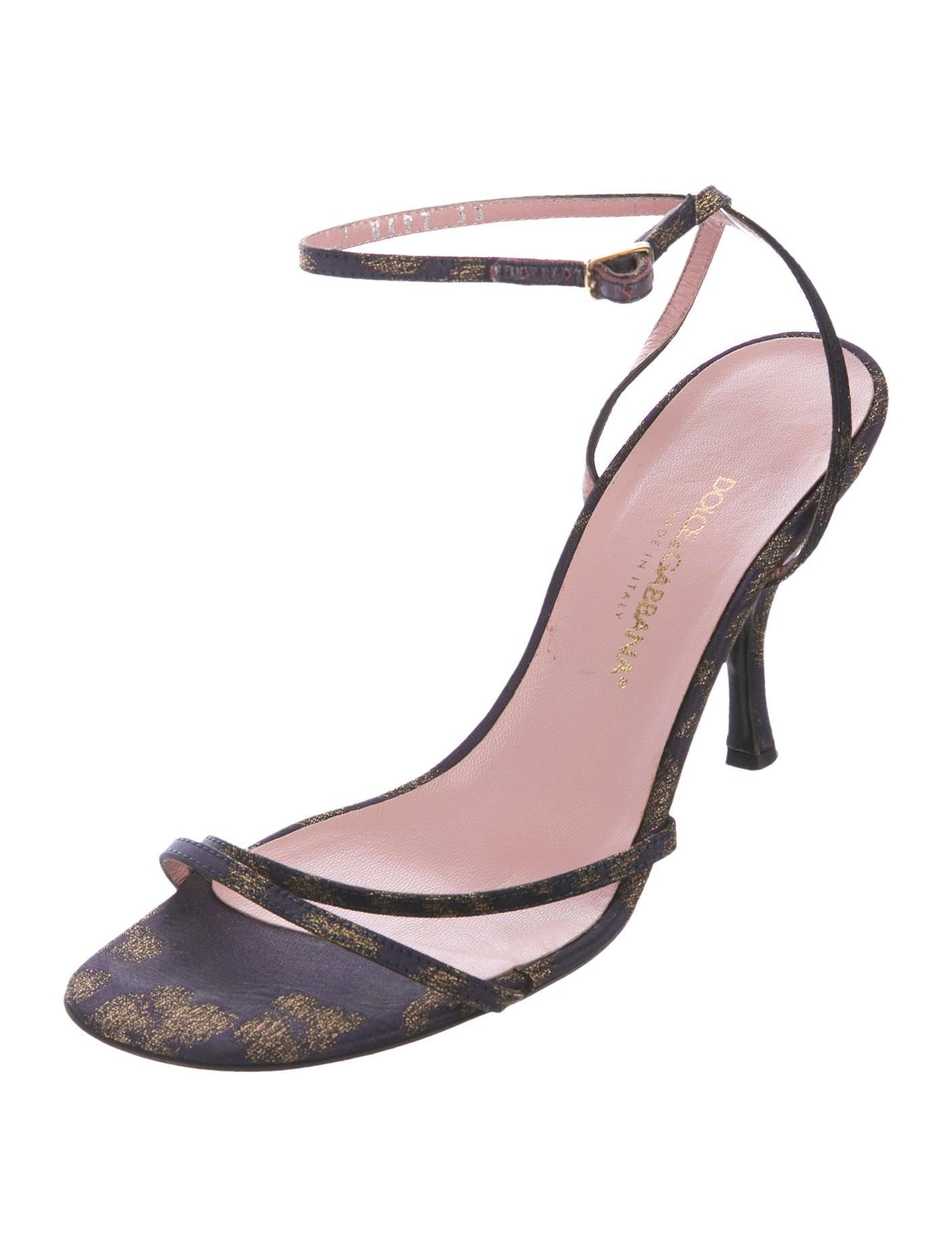 7082427c47c6 Dolce   Gabbana Satin Wrap-Around Sandals - Shoes - DAG95026