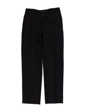 Dolce & Gabbana Tonal Striped Wool Pants None