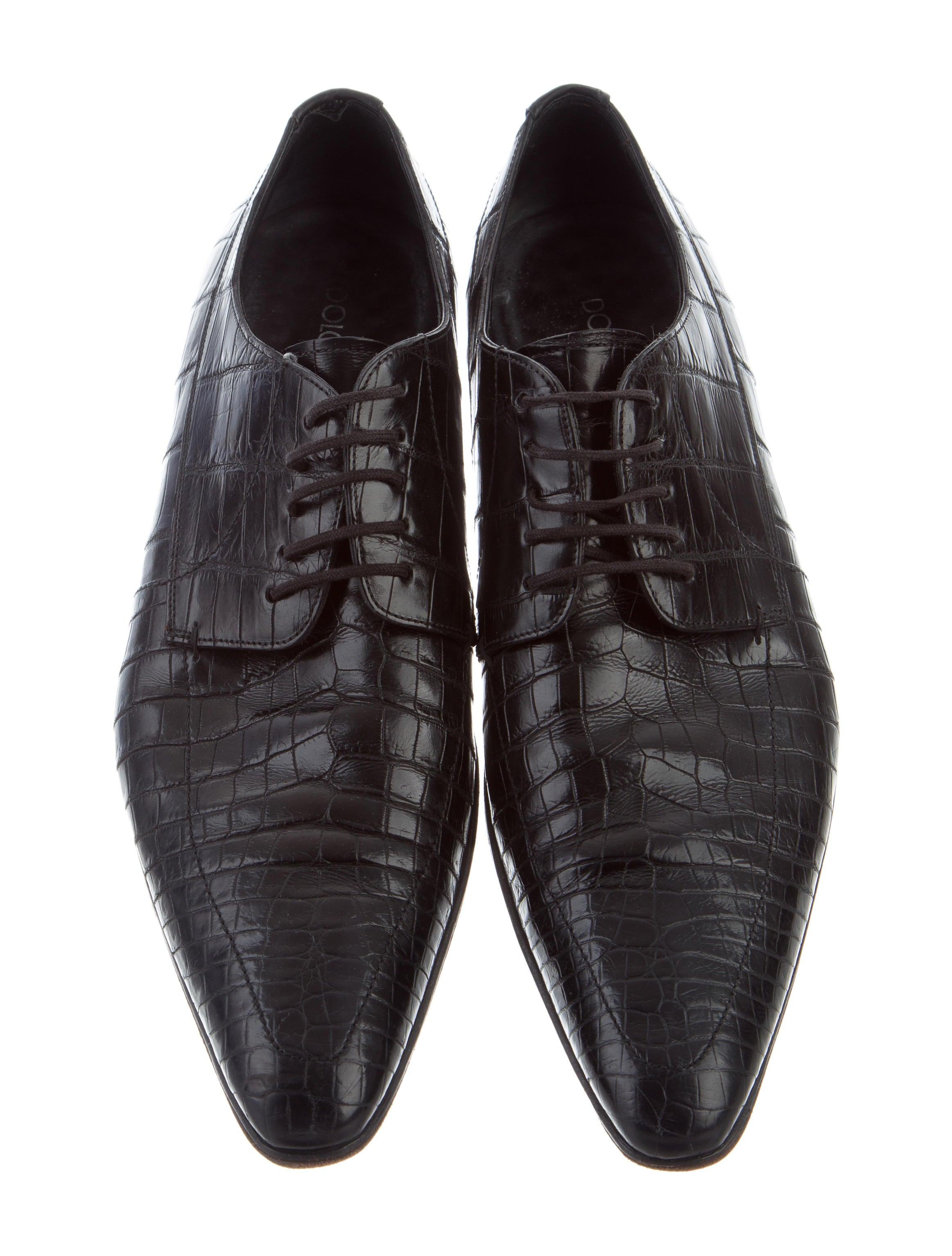 d483318d2d Dolce   Gabbana Crocodile Lace-Tie Oxfords - Shoes - DAG95065