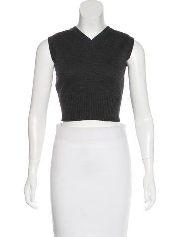 Dolce & Gabbana Wool Crop Top None