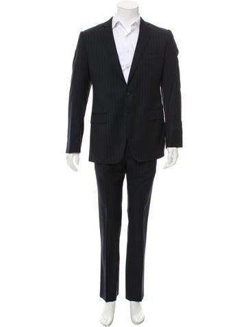 Dolce & Gabbana Wool Pinstripe Suit None