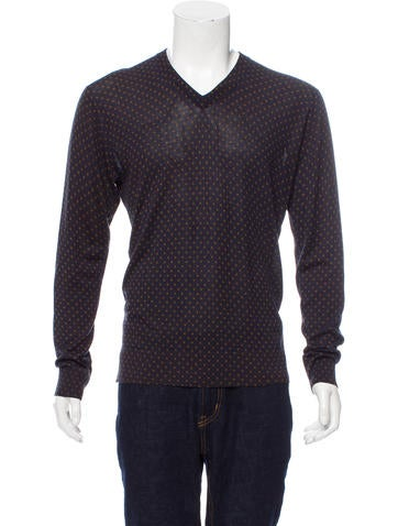 Dolce & Gabbana Silk V-Neck Sweater w/ Tags None