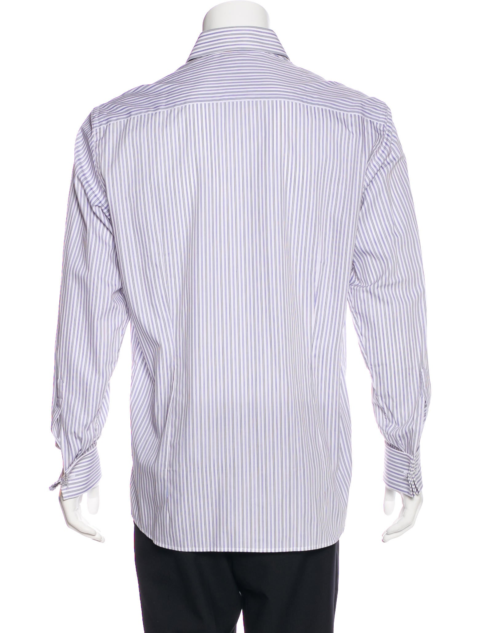 dolce gabbana striped french cuff dress shirt clothing. Black Bedroom Furniture Sets. Home Design Ideas