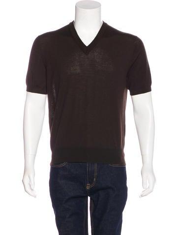 Dolce & Gabbana Wool Short Sleeve Sweater None