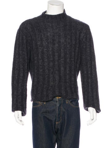 Dolce & Gabbana Alpaca-Blend Rib Knit Sweater None