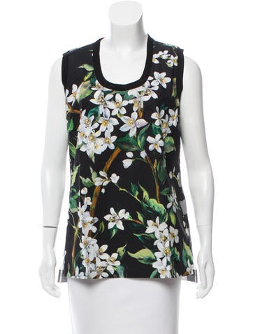 Dolce & Gabbana Floral Sleeveless Top w/ Tags None