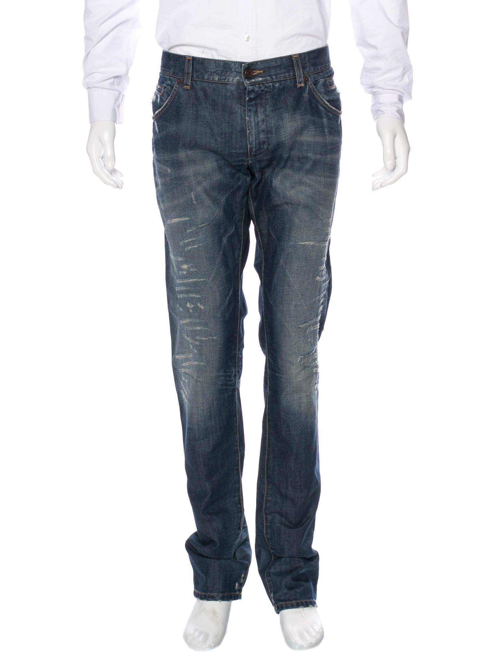 dolce gabbana distressed skinny jeans clothing. Black Bedroom Furniture Sets. Home Design Ideas