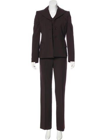 Dolce & Gabbana Wool Three Piece Pantsuit None