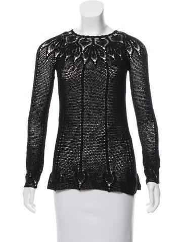 Dolce & Gabbana Crochet Wool Top None