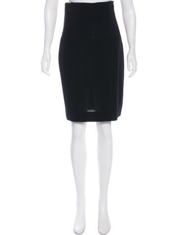 Dolce & Gabbana High-Waist Wool Skirt None