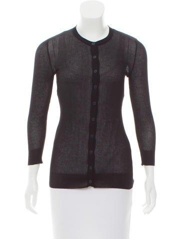 Dolce & Gabbana Rib Knit Lightweight Cardigan None