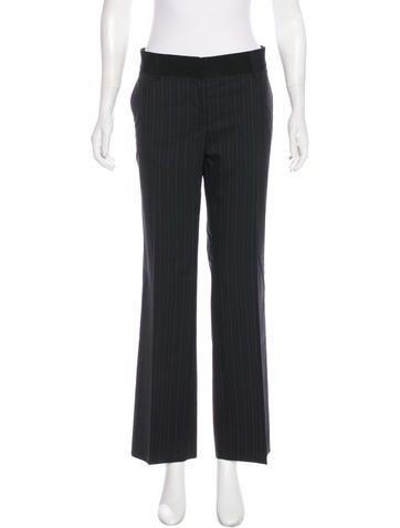 Dolce & Gabbana Wool Mid-Rise Pants None