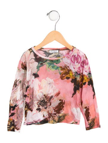 Dolce & Gabbana Girls' Floral Knit Top None