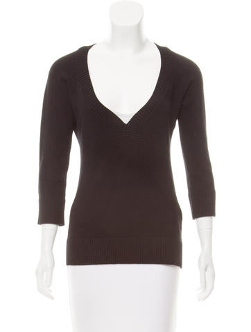 Dolce & Gabbana V-Neck Long Sleeve Sweater None
