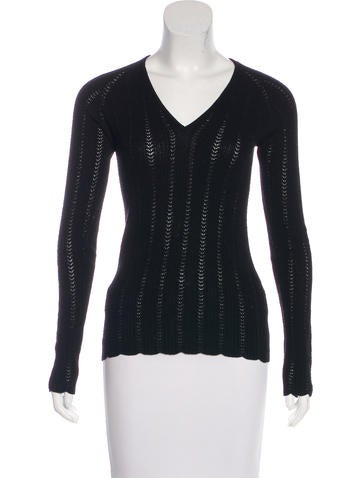 Dolce & Gabbana V-Neck Knit Sweater None