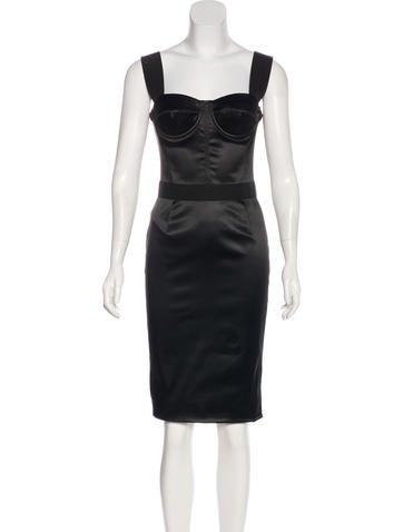 Dolce & Gabbana Satin Bustier Dress None