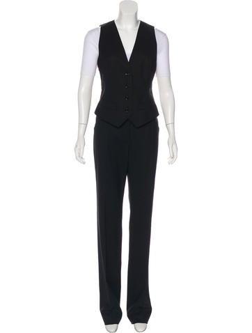 Dolce & Gabbana Virgin Wool Pant Set None