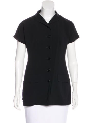 Dolce & Gabbana Wool Button-Up Top None