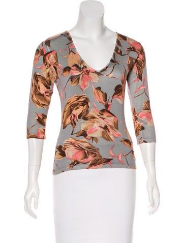 Dolce & Gabbana Silk Knit Top None