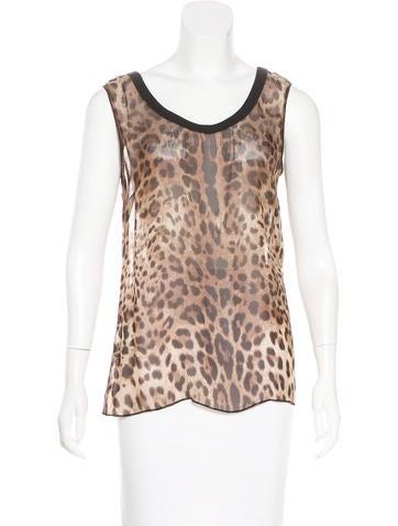Dolce & Gabbana Silk Sleeveless Top None
