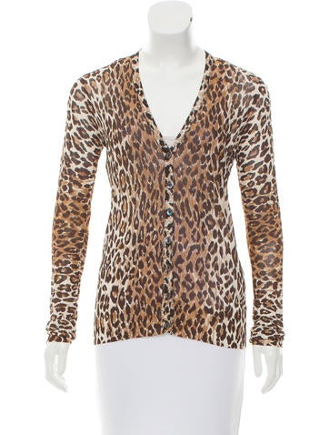 Dolce & Gabbana Leopard Printed Button-Up Cardigan None