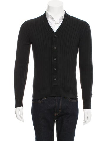 Dolce & Gabbana Rib Knit V-Neck Cardigan None