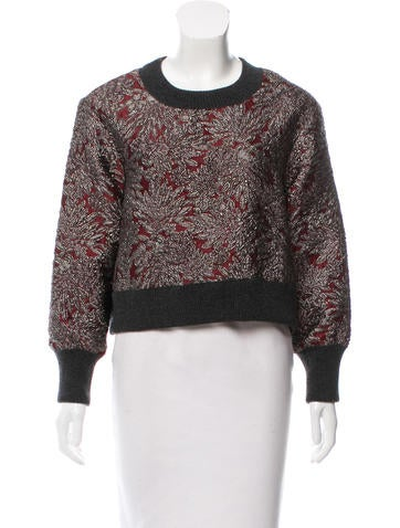 Dolce & Gabbana Cropped Brocade Sweater None