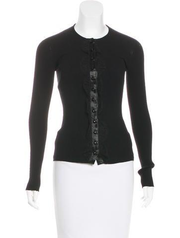 Dolce & Gabbana Rib Knit Cardigan None