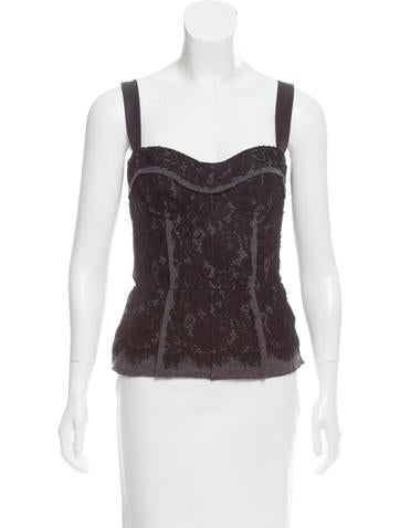 Dolce & Gabbana Lace Bustier Top None