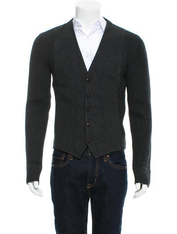Dolce & Gabbana Wool Rib Knit Cardigan None