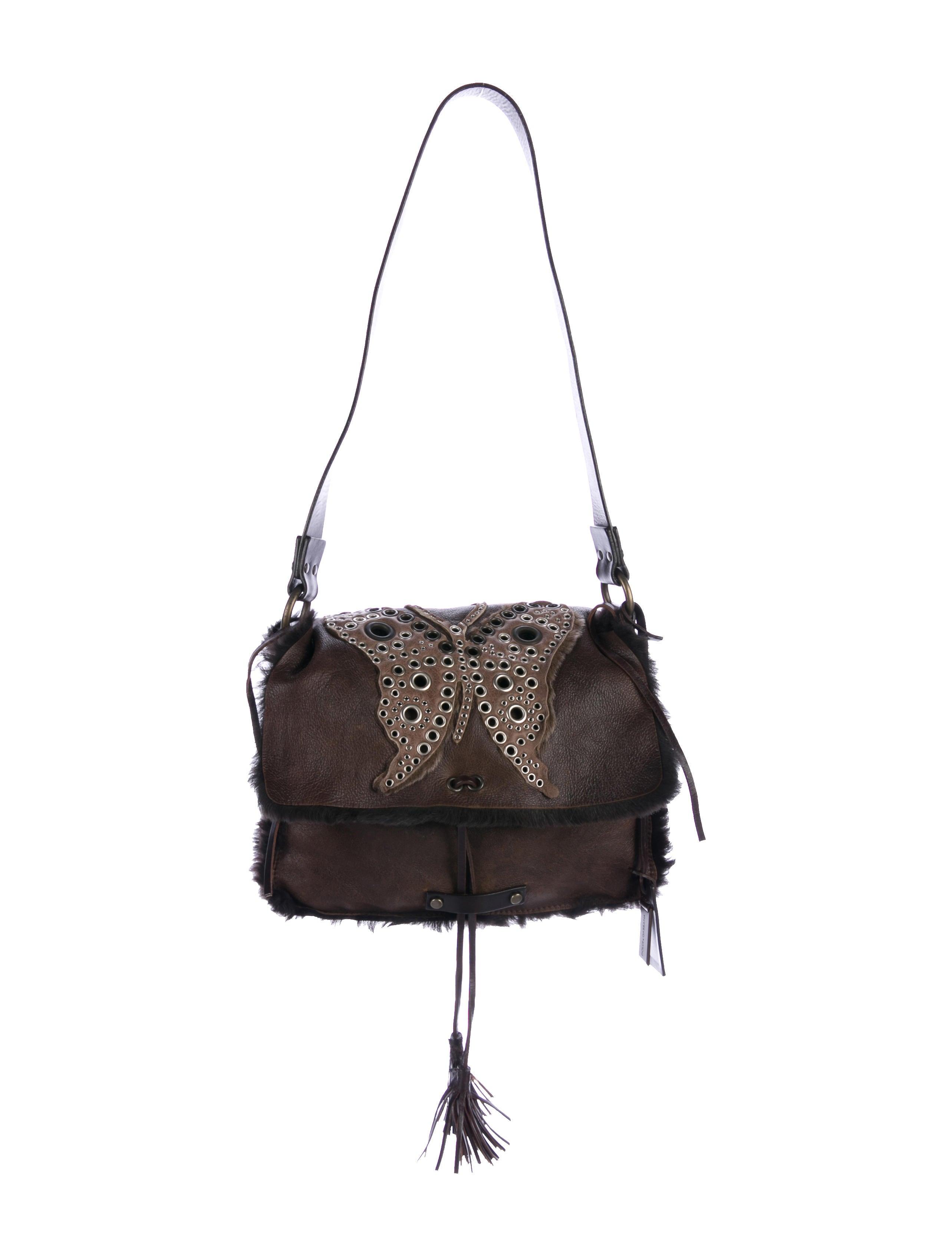 188a1d4c97 Dolce   Gabbana Shearling-Trimmed Shoulder Bag - Handbags - DAG98163 ...