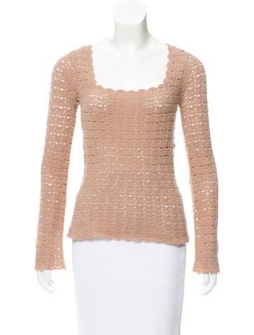 Dolce & Gabbana Wool Open Knit Top None