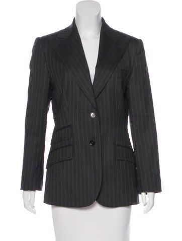 Dolce & Gabbana Wool Pinstripe Blazer None