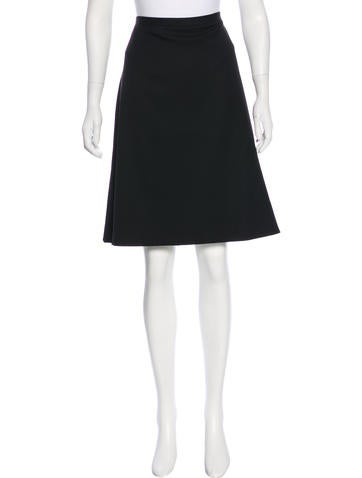 Dolce & Gabbana Wool A-Line Skirt None