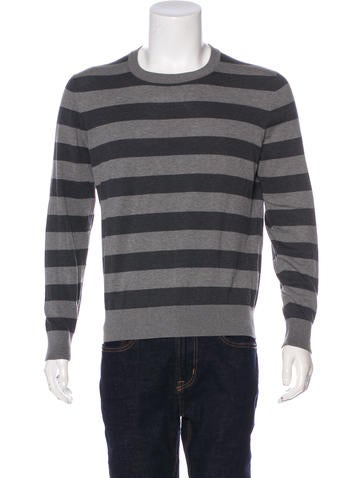 Dolce & Gabbana Striped Crew Neck Sweater None