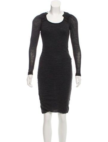 Dolce & Gabbana Gathered Wool Dress None