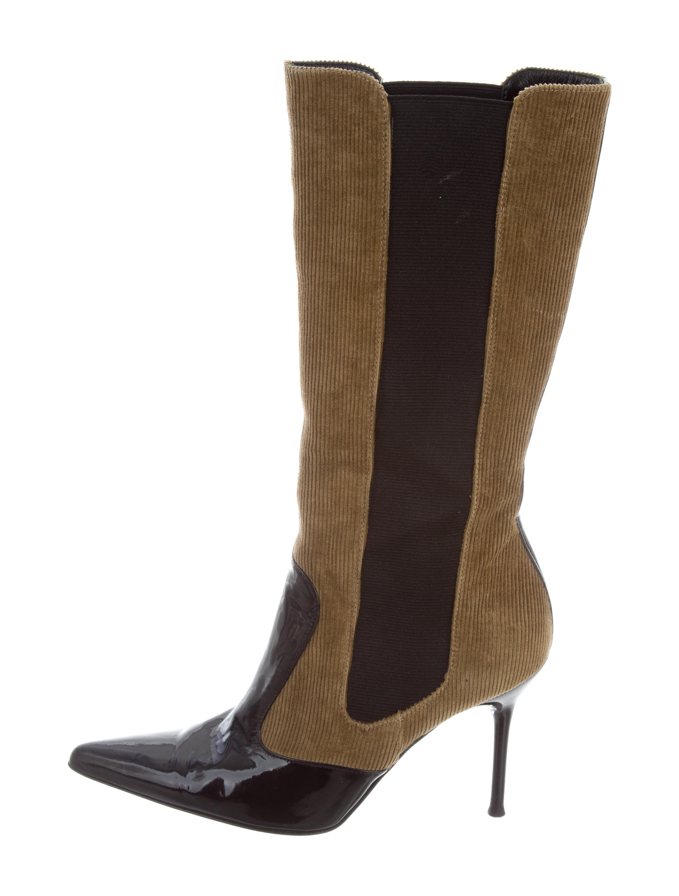 Dolce & Gabbana Pointed-Toe Corduroy Boots recommend cheap online cheap great deals wiki dKhCIXfA