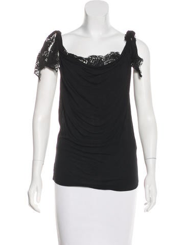 Dolce & Gabbana Sleeveless Lace-Accented Top None