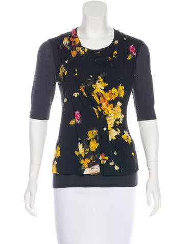 Dolce & Gabbana Printed Wool Top None
