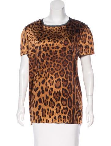 Dolce & Gabbana Leopard Print Oversize Top None