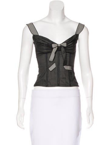 Dolce & Gabbana Silk Bustier Top None