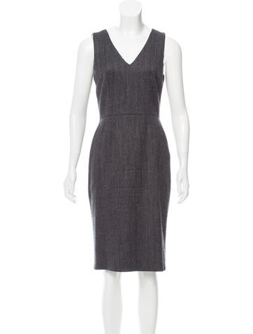 Dolce & Gabbana Herringbone Wool Dress None