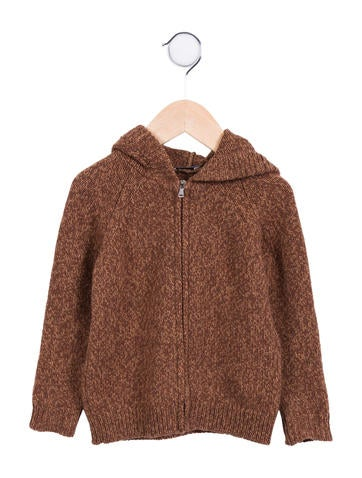 Dolce & Gabbana Girls' Hooded Wool Cardigan None