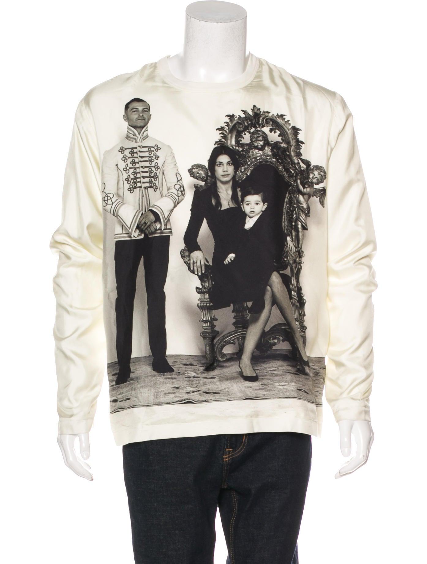 Dolce gabbana modern family print silk t shirt for Modern family printer